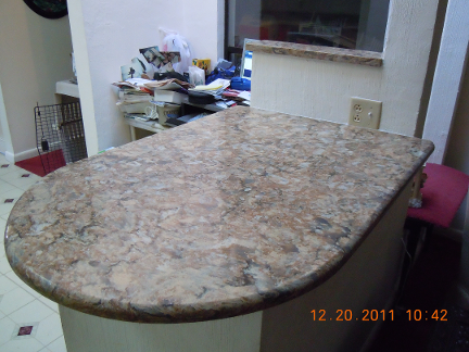 Susan's Countertop After